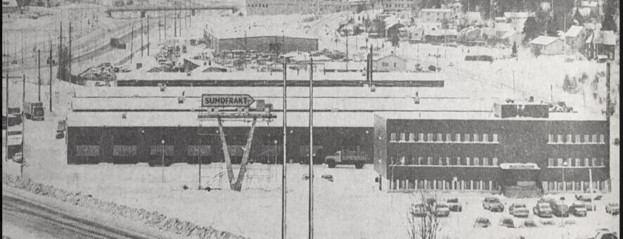 För 50 år sedan invigdes Sundfrakts terminalområde i Sundsvall